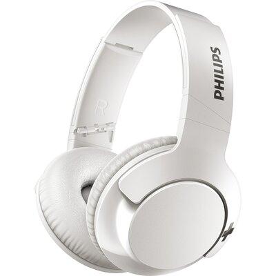 Bluetooth Слушалки Philips BASS+ SHB3175BK, бели