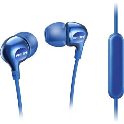 Слушалки тапи с микрофон Philips Beamers SHE3555BL, сини