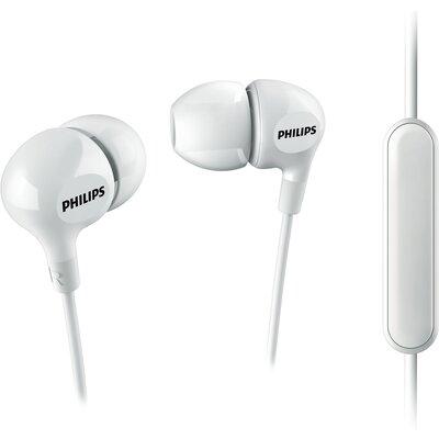 Слушалки тапи с микрофон Philips Beamers SHE3555WT, бели