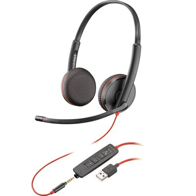 Слушалки с микрофон Plantronics Blackwire 3225 USB-A