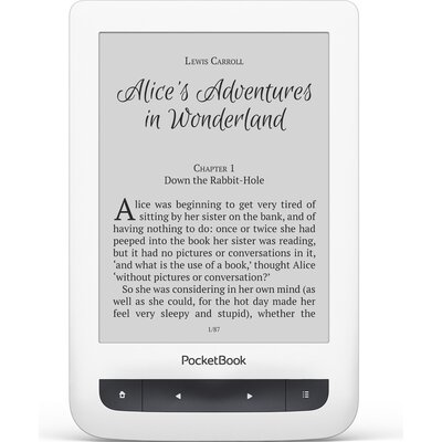 """eBook четец PocketBook Touch Lux 3 - 6"""", Бял"""
