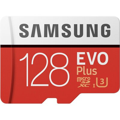 Micro SD карта Samsung EVO Plus 128 GB + SD адаптер