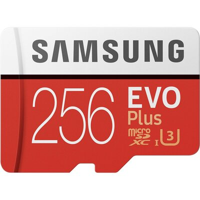 Micro SD карта Samsung EVO Plus 256 GB + SD адаптер