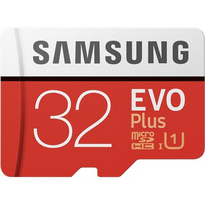 Micro SD карта Samsung EVO Plus 32 GB + SD адаптер