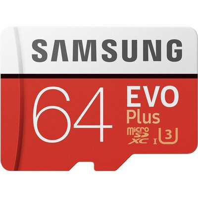 Micro SD карта Samsung EVO Plus 64 GB + SD адаптер