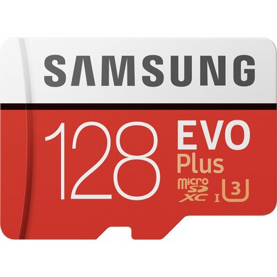 microSDXC карта Samsung EVO Plus 128GB + SD адаптер
