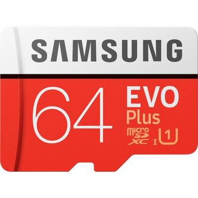 microSDXC карта Samsung EVO Plus 64GB + SD адаптер