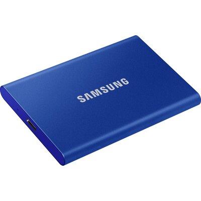 Преносим външен SSD диск Samsung T7 500GB, Indigo Blue