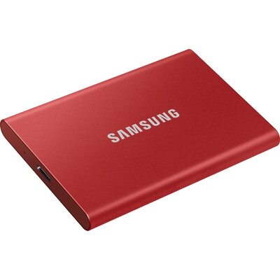 Преносим външен SSD диск Samsung T7 500GB, Mettallic Red
