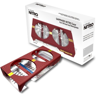 Цветен капак и охладител Sapphire NITRO Gear Shroud + Backplate, Crimson Red