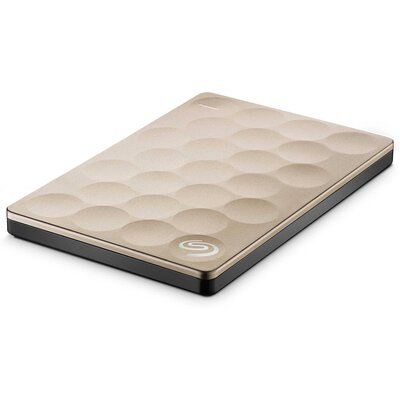 Портативен външен диск Seagate Backup Plus Ultra Slim Portable 1TB, Gold