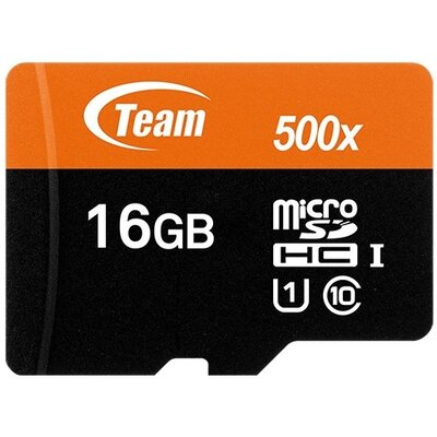microSDHC карта Team 16GB UHS-I + SD адаптер