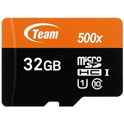 microSDHC карта Team 32GB UHS-I + SD адаптер