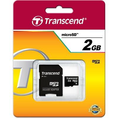 Transcend microSD 2GB + SD адаптер