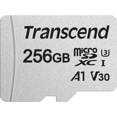 microSDXC карта Transcend 300S 256GB U3, V30, A1 с SD адаптер