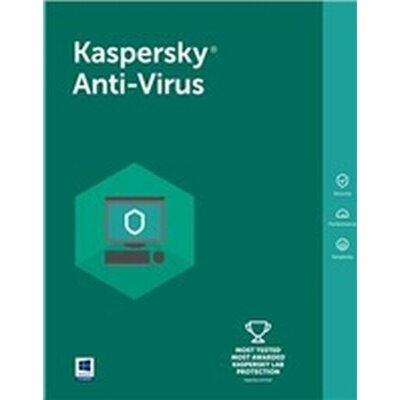 Програмен продукт с лицензен стикер Kaspersky Anti-Virus Eastern Europe Edition. 3-Desktop 1 year Base Box