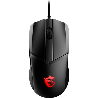 MSI CLUTCH GM41 LIGHTWEIGHT Gaming Mouse, 65g Ultra-Light, PixArt PMW-3389 Optical Sensor - 16 000 DPI, OMRON Switches Rated for