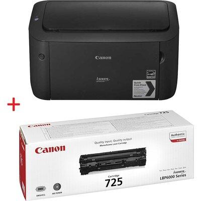 Лазерен принтер Canon i-SENSYS LBP6030B + Canon CRG-725