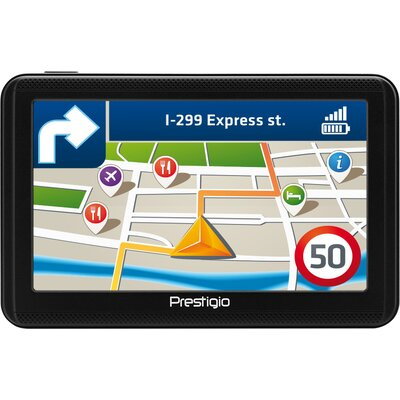 "Prestigio GeoVision 5060, 5"" (480*272) TN display, WinCE 6.0, 800MHz Mstar MSB2531 Cortex A7, 128MB DDR, 4GB Flash, 600mAh"