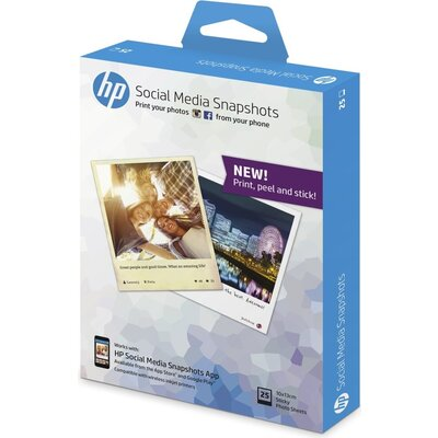 Хартия HP Social Media Snapshots, 25 sheets, 10x13cm