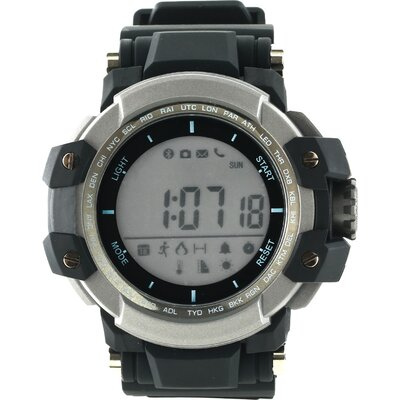 Smart watch, 1.2inch traditional LCD, Damage-resistant military style, TPU strap metal watch-case, IP68 waterproof, compatibilit