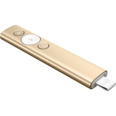 Безжичен презентер Logitech Spotlight Presentation Remote - Gold