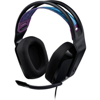 Слушалки Logitech G335 Gaming Headset, PRO-G 40 mm, Black