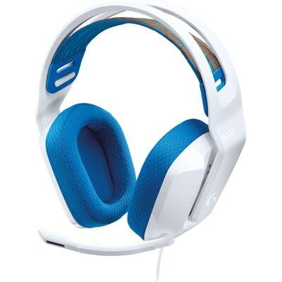 Слушалки Logitech G335 Gaming Headset, PRO-G 40 mm, White