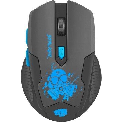 Мишка Fury Wireless gaming mouse, Stalker 2000DPI, Black-Blue