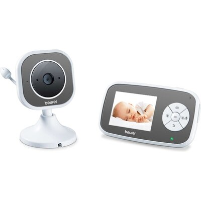 Бебефон Beurer BY 110 video baby monitor,  2.8'' LCD colour display,infrared night vision function,4 gentle lullabies,Intercom f
