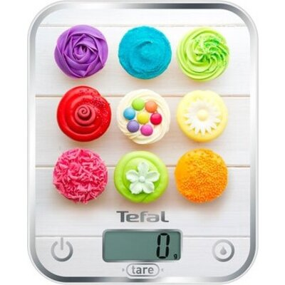 Везна Tefal BC5122V0, Optiss, Kitchen Scale, up to 5kg, Resolution 1g function Tara, Digital LCD display, Delicious Cupcakes