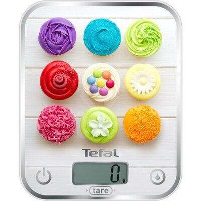 Везна Tefal BC5122V1 Optiss Delicious Cupcakes, ultra slim glass, 5 kg / 1g/ml graduation, tara, liquid function, 2 batteries LR