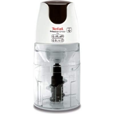 Чопър Tefal MB450B38, Masterchop XL, 500 W, Capacity 500 ml, 4 stainless steel blades, 3 in 1: grinding, chopping and mixing, wh
