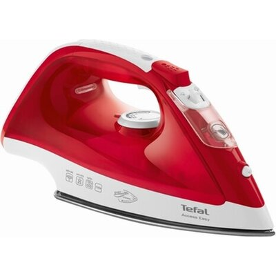 Ютия Tefal FV1543E0, Red, 2100W - 0-25g/min - shot 100g/min - ceramic plate - anti drip - water tank 250 ml