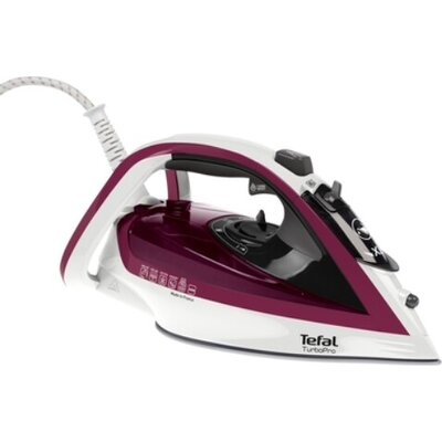 Ютия Tefal FV5605E0, Turbo Pro white and purple, 2600W - 0-50gr/mn - shot 190gr - durilium soleplate - calc collector - automati