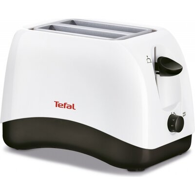 Тостер Tefal TT130130, Delfini 2, Toaster, 850W, 2 Hole, 7 Stage thermostat, Stop function, Defrosting, Reheating, white