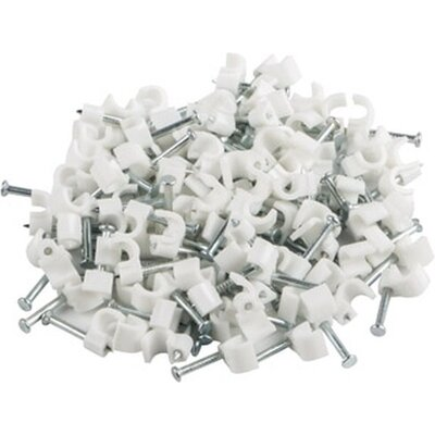 Кабелен клипс Lanberg cable clips 3,5mm 100pcs, white