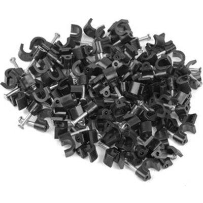 Кабелен клипс Lanberg cable clips 5mm 100pcs, black