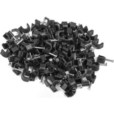 Кабелен клипс Lanberg cable clips 7mm 100pcs, black