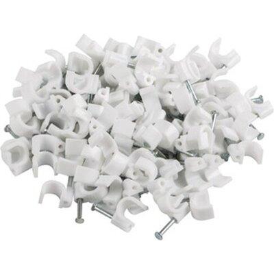 Кабелен клипс Lanberg cable clips 7mm 100pcs, white