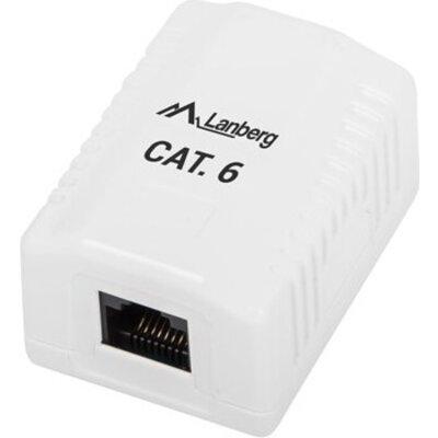 Конектор Lanberg surface-mount box CAT.6 UTP UNshielded 1X RJ45, white