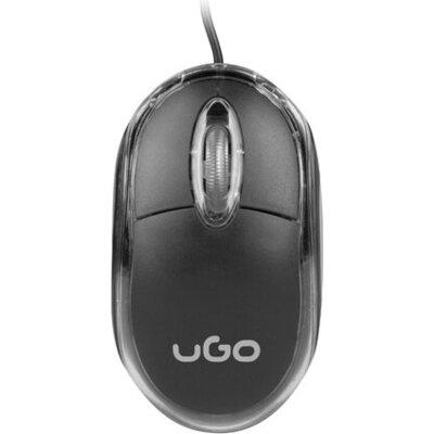 Мишка uGo Mouse simple wired optical 1200DPI, Black