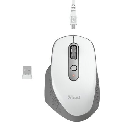 Мишка TRUST Ozaa Wireless Rechargeable Mouse White