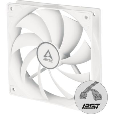Вентилатор ARCTIC F12 PWM PST, Бял