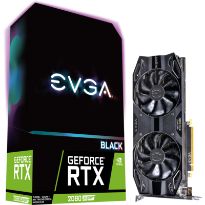 Видео карта EVGA GeForce RTX 2080 SUPER BLACK GAMING 8GB GDDR6 - 08G-P4-3081-KR