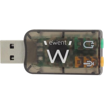 Звукова карта Ewent EW3751, 5.1, USB 2.0, черен