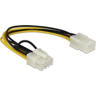 Кабел DeLock PCI Express power 6 pin женско > PCI Express 8 pin, 20 cm