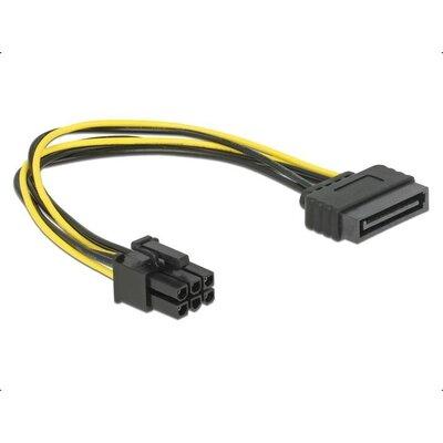 Кабел DeLock Power SATA 15 pin към 6 pin PCI Express, 20 cm