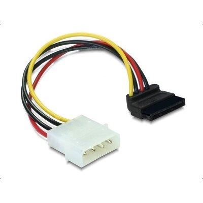Кабел DeLock Power SATA HDD към 4 pin, на 90°, 15 cm