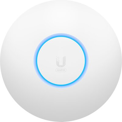Ubiquiti U6-Lite Wi-Fi 6 Access Point with dual-band 2x2 MIMO in a compact design for low-profile mounting; no POE included in p